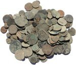 Uncleaned Spanish found coins - Pirate Cobs, Medieval Spanish etc