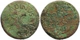 Roman coin of Augustus dupondius - countermarked? - L SVRDINVS IIIVIR A A A F F SC