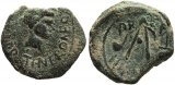 Very Rare Roman coin from Carthago Nova, Spain - C. Helvius Pollo, under Nero, for Tiberius