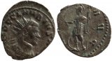 Roman coin of Claudius II silvered antoninianus - VIRTVS AVG