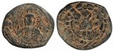 Byzantine coin - Anonymous Class K follis attributed to Alexius I  struck over a Class J follis