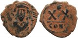 Byzantine coin of Phocas - Half follis - Constantinople