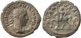 Roman coin of Philip I AR Silver antoninianus - ADVENTVS AVGG
