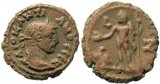 Roman coin of Diocletian Potin Tetradrachm minted in Alexandria, Egypt - Year 7