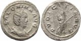 Roman coin of Augusta Salonina AR Antoninianus - PUDICITIA  AVG
