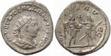Roman coin of Gallienus Silvered Antoninianus - Gallineus & Valerian reverse