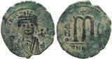 Byzantine coin of Maurice Tiberius AE Follis - Antioch - Year 5