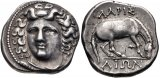 Superb Ancient Greek coin of Thessaly, Larissa AR Drachm - 356-342 BC - Beautiful Classic Style