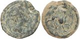 Iberian Celtic coin - Castulo in Spain - Helmeted Sphinx