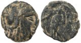 Ancient Nabatean coin of the King Aretas II 110-96BC