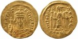 Ancient Byzantine Gold coin of the Emperor Phocas 602-610AD