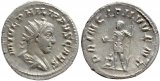 Roman coin of Philip II silver antoninianus - PRINCIPI IVVENT- Prince of the Youth