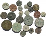 23 Ancient Roman and Roman Provincial coins - 14-34mm including one Sestertius