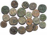 21 Ancient Holyland found Roman coins 20-25mm