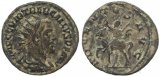 Roman coin of Trebonianus Gallus antoninianus - ADVENTVS AVG