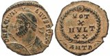 Choice Roman coin of Julian II The Apostate - VOT X MVLT XX