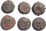 Wholesale lot of 6 Ancient Seleucid coins - as found