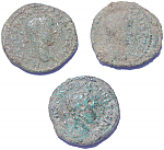 3 Uncleaned Ancient Roman Provincial coins with military standards