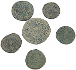 6 Ancient Roman coins from Europe & Spain including 1 medium sized!