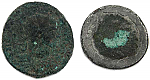 2 Uncleaned Roman coins with Bronze Disease (BD)