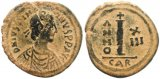 Byzantine coin of Justinian AE decanummium - Carthage Mint
