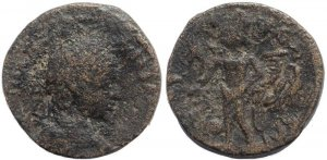 Roman coin of Elagabalus AE21mm of Raphanea in Syria