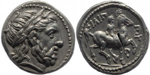 Superb Greek coin - Kings of Macedonia, Philip II 359-336BC AR silver Tetradrachm - posthumous issue