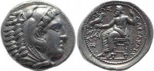 Superb Greek coin - Kings of Macedonia, Alexander III 336-323BC AR silver Tetradrachm - posthumous issue