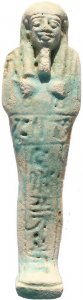 Beautiful Ancient Egyptian Faience Ushabti - Late Period 27th Dynasty - Perfect!!!