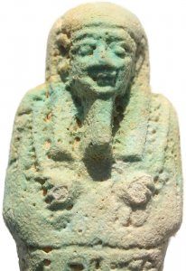 Super Ancient Egyptian Faience Ushabti - Late Period 27th Dynasty - Perfect condition