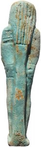 Ancient Egyptian Faience Ushabti - Late Period 27th Dynasty - Perfect