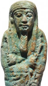 Ancient Egyptian Faience Ushabti - Late Period 27th Dynasty