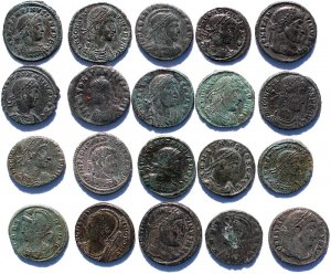 20 High Grade Semi Cleaned Ancient Roman coins