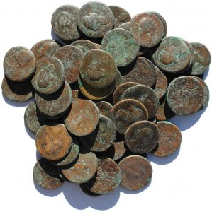 Roman Provincial coins from Pautalia, Thrace of Faustina II - Hoard coins!