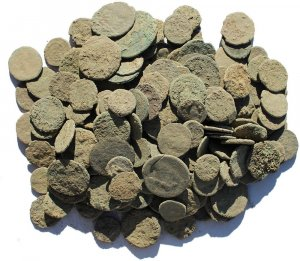 Dirty and Crusty Ancient Uncleaned Roman coins from Europe 9-19mm