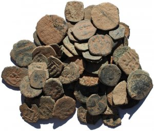 Premium Uncleaned Ancient Byzantine Coins from the Holyland 16-26mm