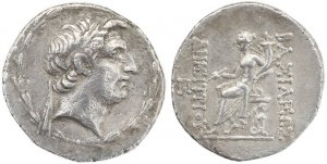 Ancient Seleukid AR silver tetradrachm of Demetrios I Soter