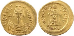 Byzantine Gold coin of the Emperor Phocas 602-610AD